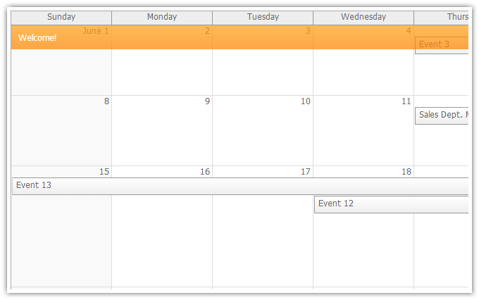 Features Daypilot For Asp Webforms Calendar Scheduler And