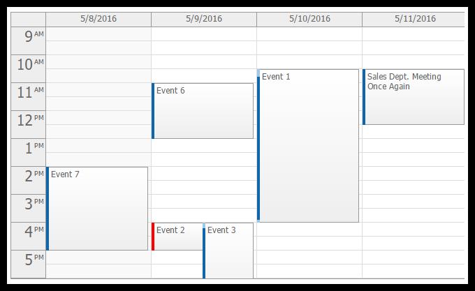 event calendar for asp.net webforms open source